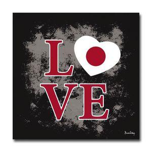 TABLEAU - TOILE Tableau Design Love JAPON  70 x 70 cm