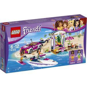 ASSEMBLAGE CONSTRUCTION LEGO® Friends 41316 Le Transporteur Hors-Bord d'An