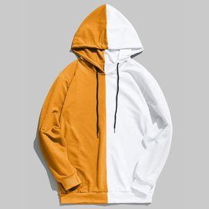 SWEATSHIRT Mens Patchwork Casual Slim Fit Sweat Outwear Chemi