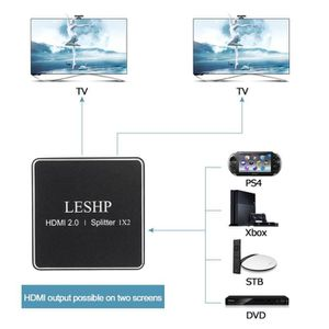 REPARTITEUR TV LESHP HDMI 2.0 1x2 Splitter Support Full HD 4x2K 3