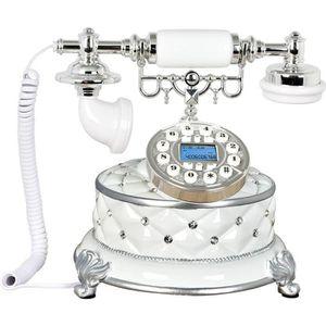Téléphone fixe Rabbitgoo Téléphone Fixe en Résine Antique avec Re