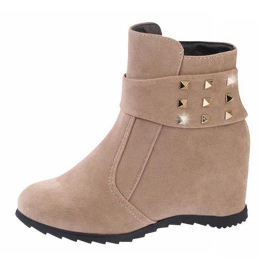 Compensé Bottine Femme Achat Boots Printemps Talon Camel A tsQrxhdC