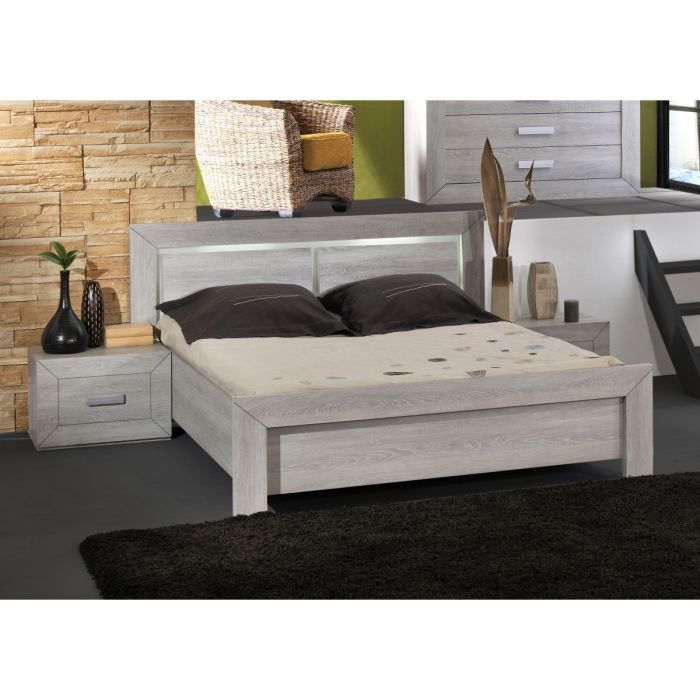 lumeo lit adulte 160x200 avec luminaires int gr s achat. Black Bedroom Furniture Sets. Home Design Ideas