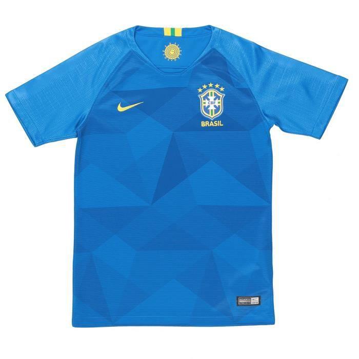 NIKE Maillot de Football Extérieur CBF - Enfant Garçon - Bleu