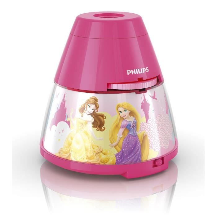 DISNEY - Veilleuse à pile LED Rose Princess H11,8cm OFF