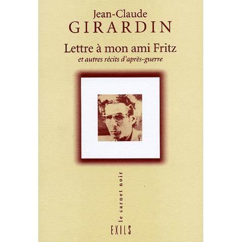 LIVRE HISTOIRE FRANCE Lettre à mon ami Fritz et autres récits d'après-gu