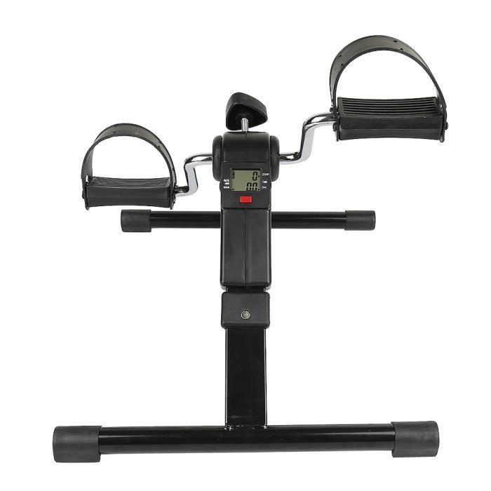 Pédalier d'Appartement Écrant LCD Mini Vélo Pliable Fitness Multifonctionnel Antidérapants