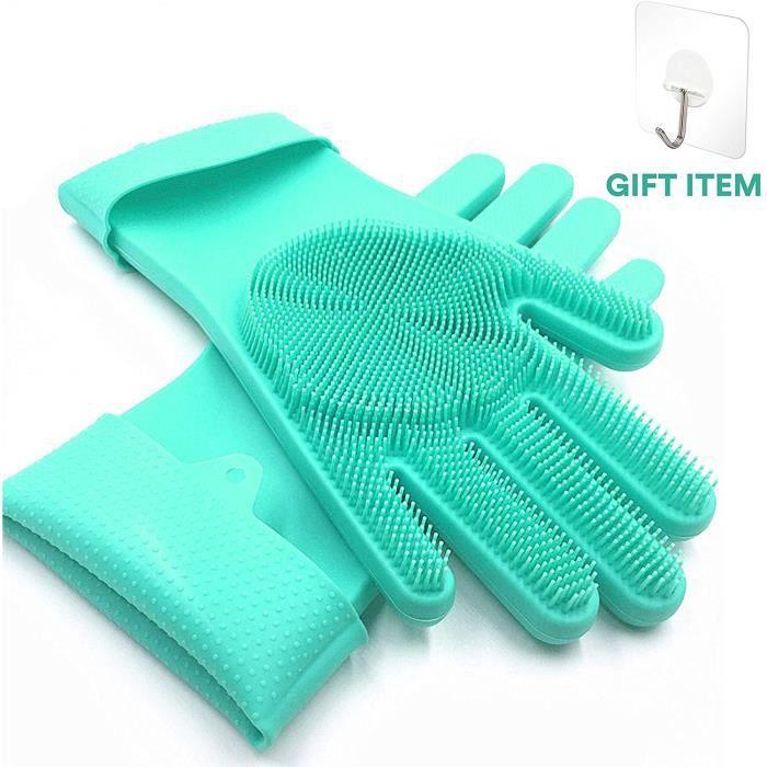 Gants en silicone Magic, gants pour lave-vaisselle, gants pour lave-vaisselle, gommage, cuisine, lave-auto et gants pour lave-vaisse