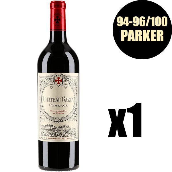 X1 Château Gazin 2016 75 cl AOC Pomerol Vin Rouge