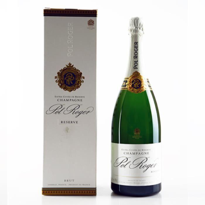 Champagne et Méthode Traditionnelle - Champagne Pol Roger Brut Reserve - Magnum 150cl Blanc