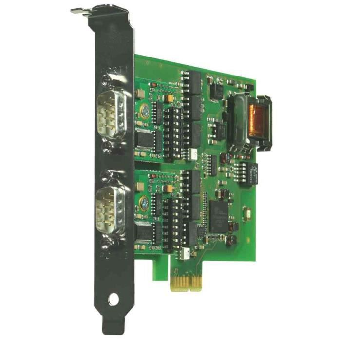 carte Pci Express 2Xrs232/422/485, isolation galva