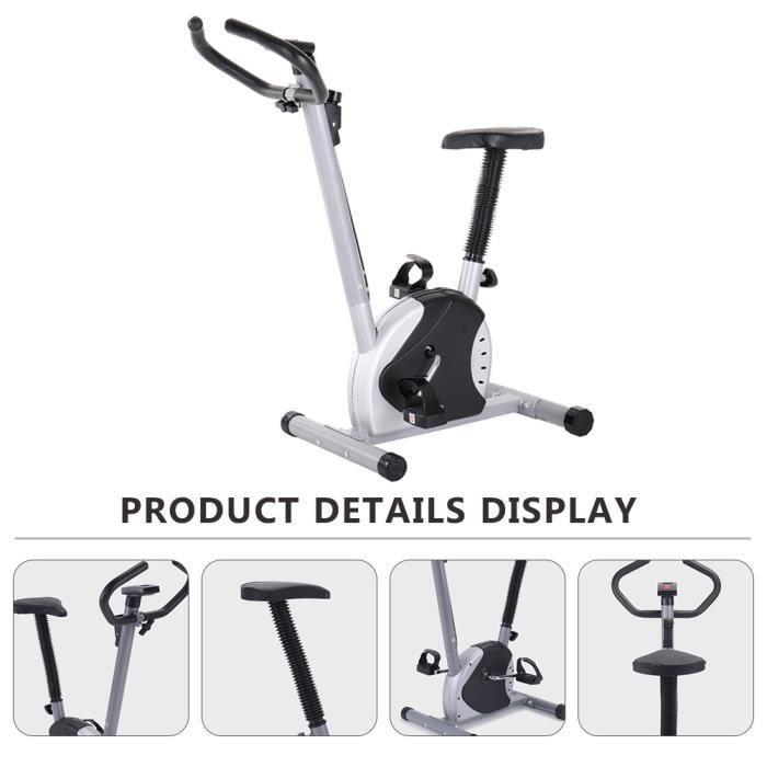Vélo d'appartement pliant Équipement de fitness à domicile vélo spinning pour brûler des calories