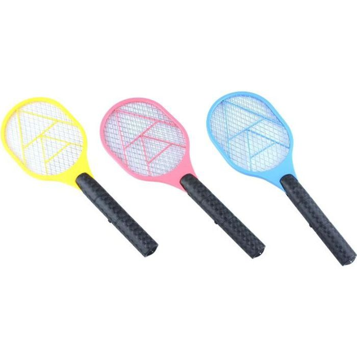 Raquette électrique anti-moustiques 16x3x45cm - Coloris aléatoire