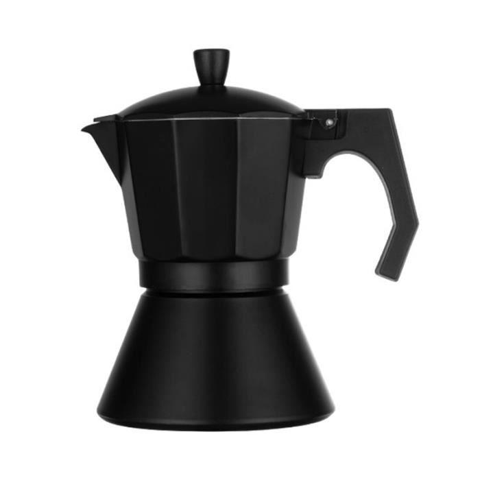 Cafetière,3-6 tasses italienne Moka expresso Cafeteira percolateur Pot Express Moka Pot cuisinière café verser - Type Black 6Cups