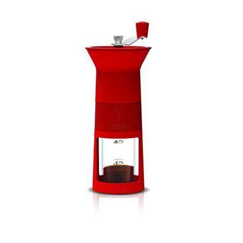 Bialetti DCDESIGN02 - ELECTROMENAGER - MOULINS A CAFE - Moulin à Café Manuel Rouge Plastique 11,5x8,5x21,5 cm