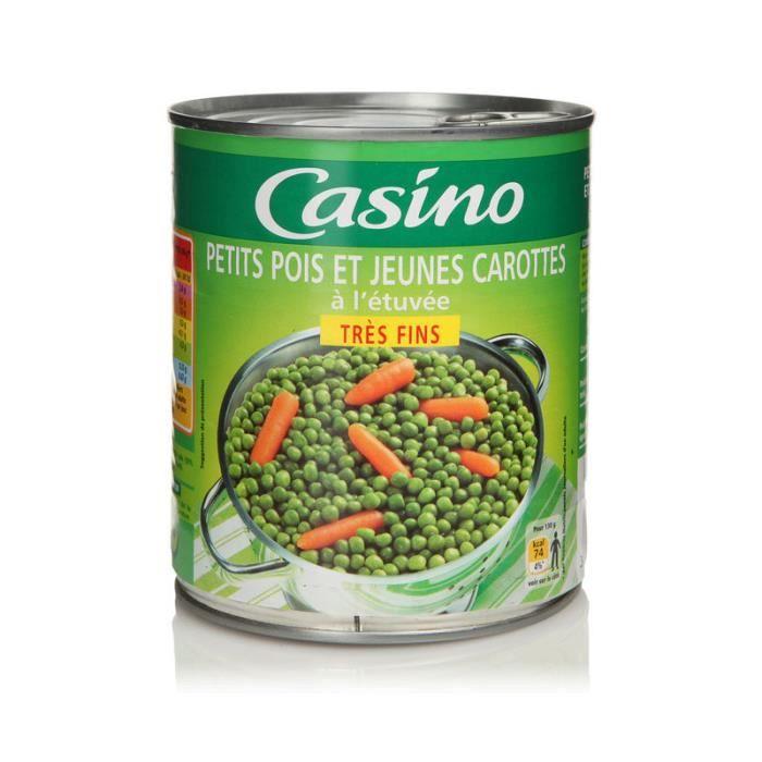 CASINO - Petits Pois Très Fins et Jeunes Carottes 530G