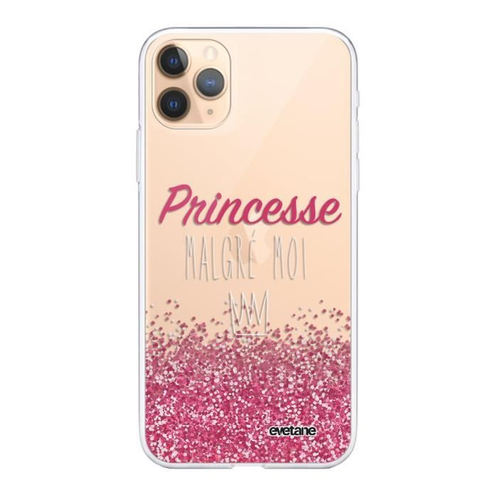 Coque iPhone 11 Pro Max 360 intégrale transparente Princesse Malgré Moi Ecriture Tendance Design Evetane