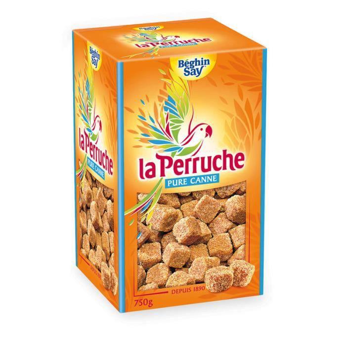 BEGHINSAY Sucre de canne en morceaux La Perruche - 750 g