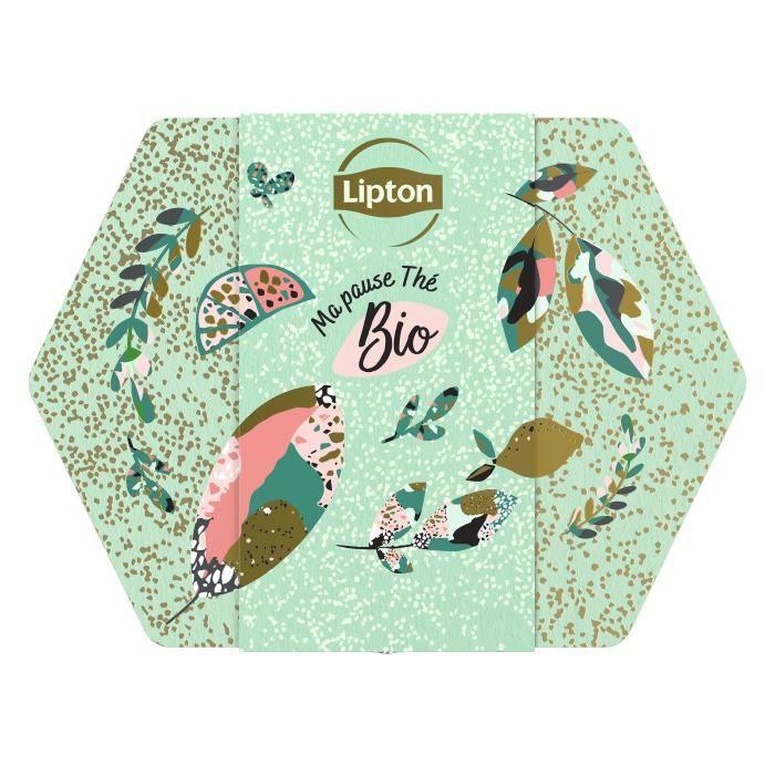 LIPTON Boîte en métal Thé de Noël Bio