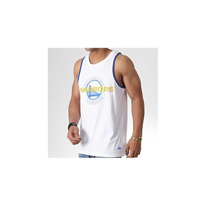 Débardeur NBA Golden State Warriors New Era Double Logo Blanc pour homme