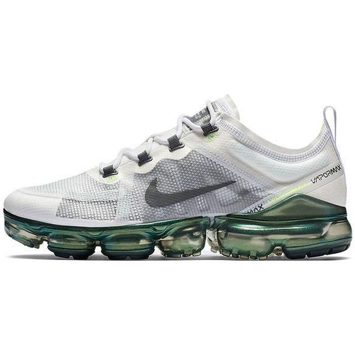 Nike Air Vapormax 2019 Premium Oregon AT6810-100 Chaussures de Course pour Homme Gris Blanc