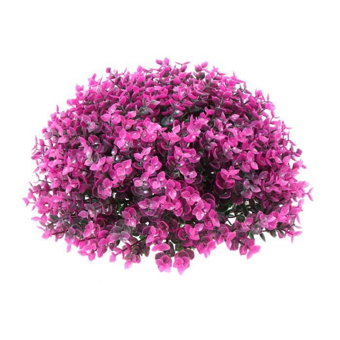 1 Pc boule d'herbe artificielle décorative sûre créative aménagement paysager ornement herbe décor pour bureau extérieur AQUARIUM