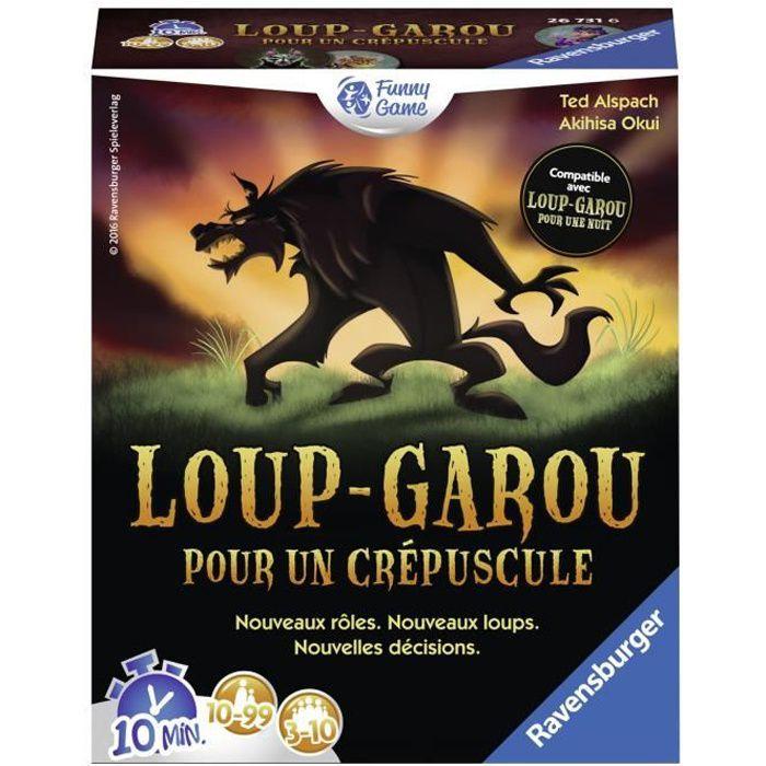 Loup-Garou pour un Crépuscule - Ravensburger - Jeu d'ambiance Enfants et Adultes - Jeu de rôle - 3 à 10 joueurs dès 10 ans