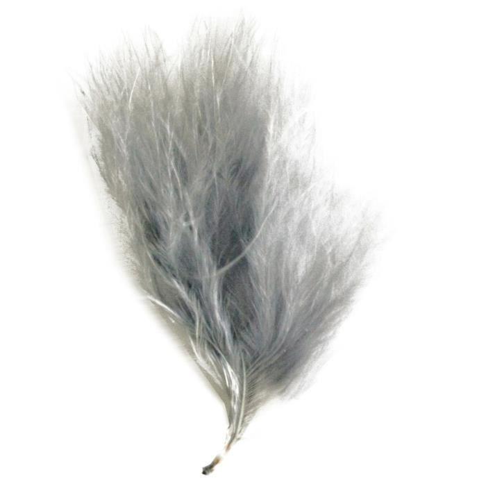 SANTEX Plume de couleur gris