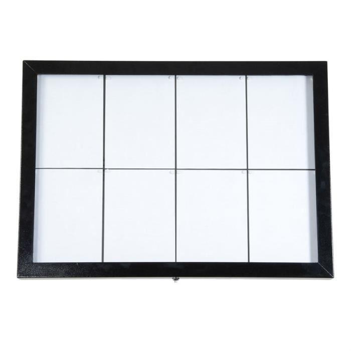 Porte menu mural 8 x A4 modèle Black Star XXL (éclairage LED) pour présentation menu hôtel restaurant 8 pages A4
