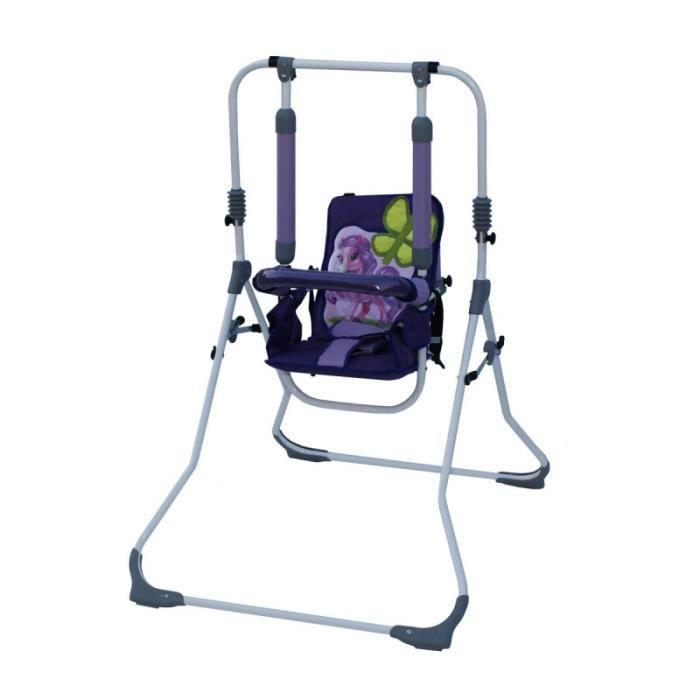 Balancelle berceau transat chaise haute 12m+ bébé enfant - Samba LUX 4en1 - Poney.