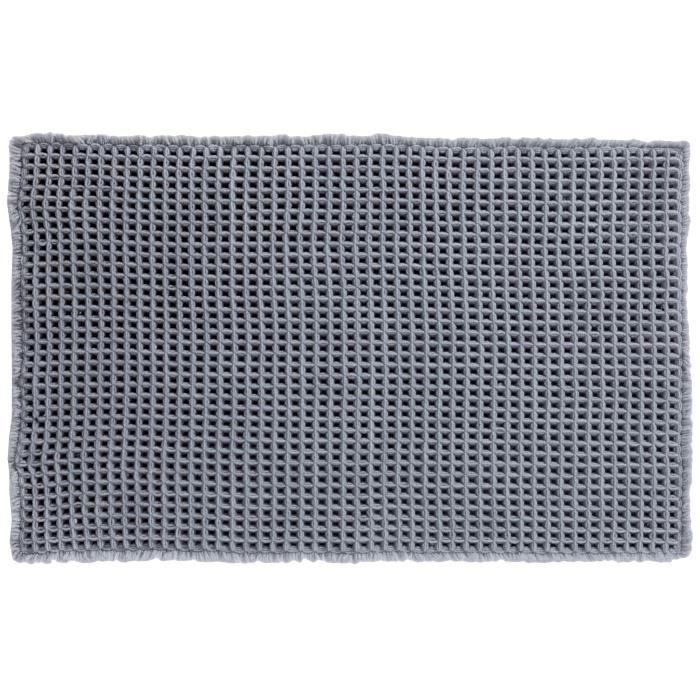 SPIRELLA Tapis de bain GAUFFRE 50x80 cm - Gris argenté
