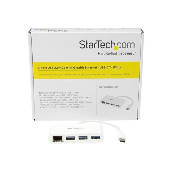 Startech Hub Usb 3.0 3 ports avec Usb C