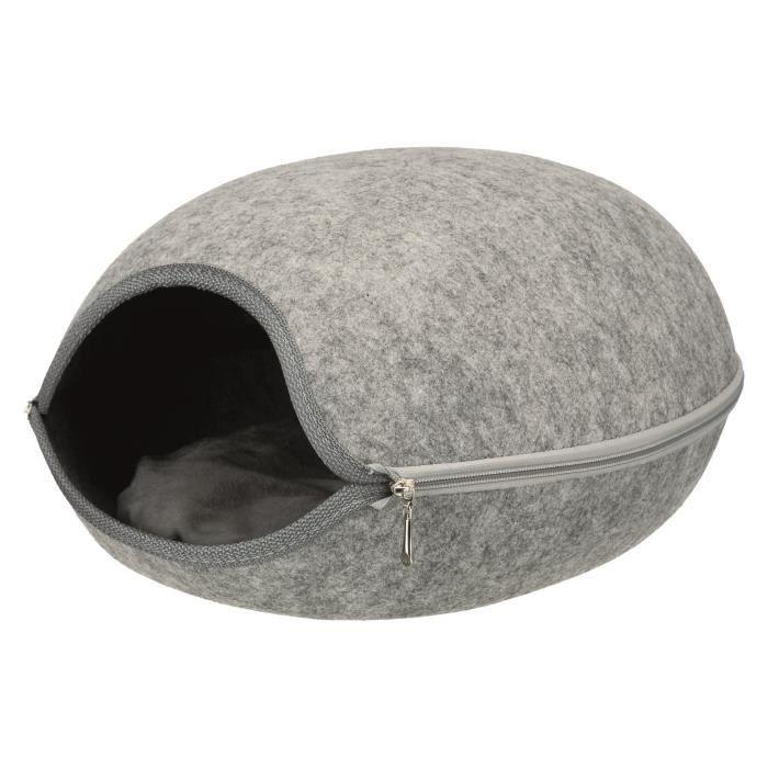 TRIXIE Abri douillet Luna 40 × 24 × 46 cm - Gris clair - Pour chien