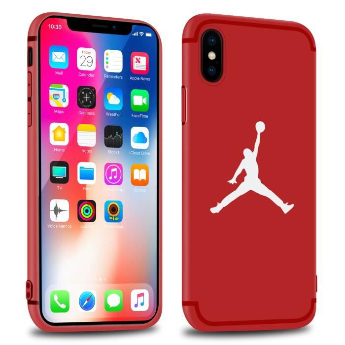 coque iphone x jordan rouge