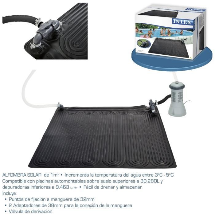 Chauffe eau solaire tapis 120x120 piscines achat vente for Chauffe piscine express