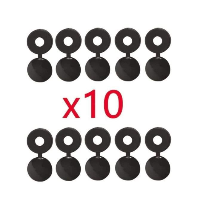 Lot de 10 vis de plaque dimmatriculation antivol en acier inoxydable pour vis de plaque dimmatriculation