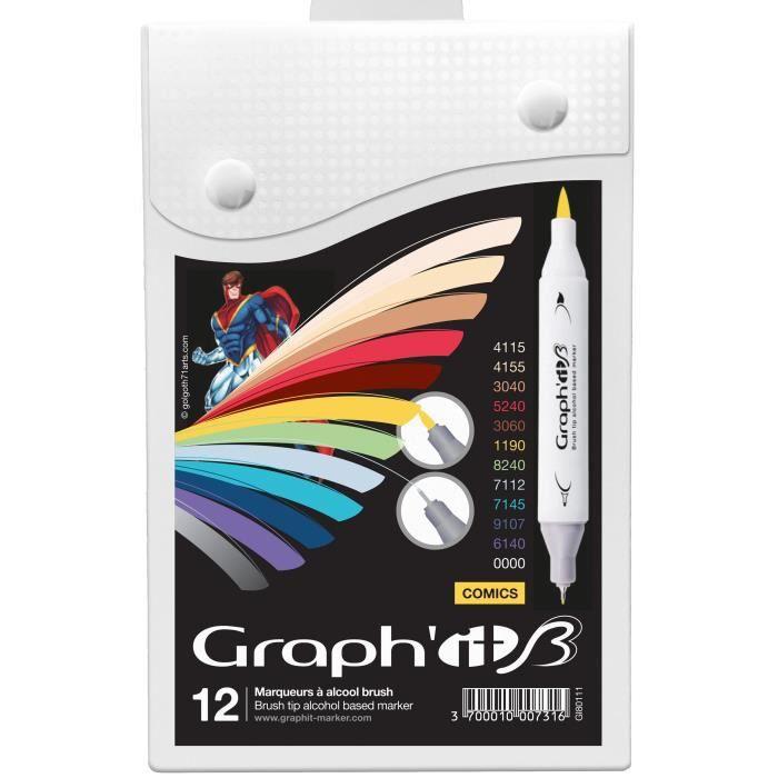 42 pieces Grafix Art boîte pleine de Art Essentials idéal cadeau de Noël pour enfants