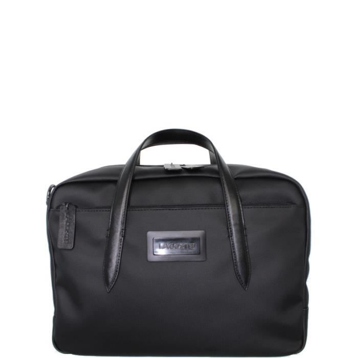 serviette lacoste travel computer bag ref cem37300 000 black achat vente attach case. Black Bedroom Furniture Sets. Home Design Ideas