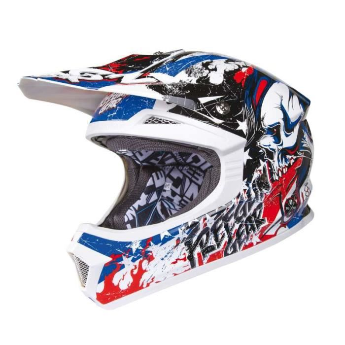 casque moto cross enfant freegun vert bleu achat. Black Bedroom Furniture Sets. Home Design Ideas