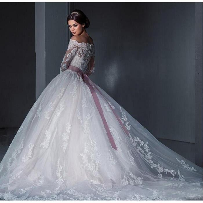 Luxe Robe De Mariage Bal Princesse A-Line
