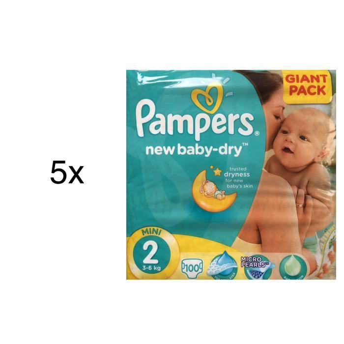 500 couches pampers new baby dry taille 2 achat vente - Prix couches pampers baby dry taille 4 ...