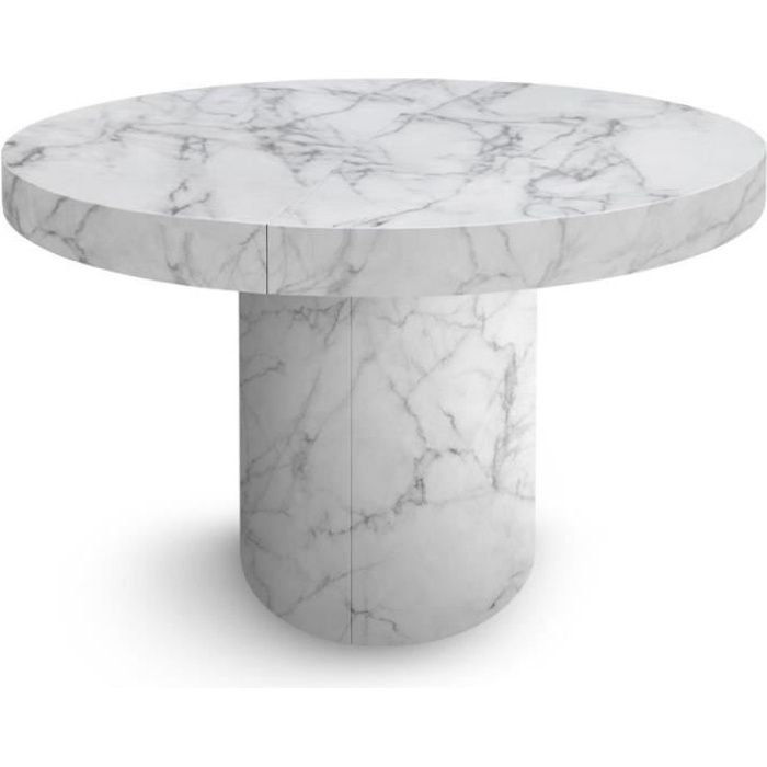 Table Ronde Pied Central Extensible