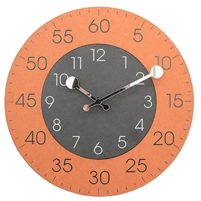 Bureau /à Bureau Mouvement /à Quartz Pendule Murale Silicieuse Moderne Horloge Murale Radio Pilot/ée Horloge Murale D/écorative pour Salon Bureau Noir
