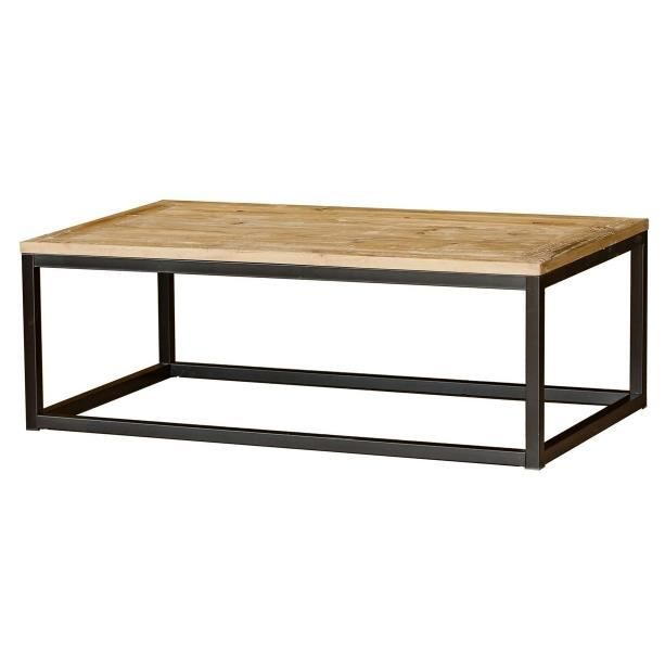table basse en bois et metal maison design. Black Bedroom Furniture Sets. Home Design Ideas