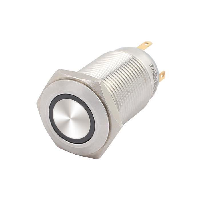 Câble 28 mm Bouton Poussoir DEL Rouge comme Interrupteur Acier Inoxydable ip67 M