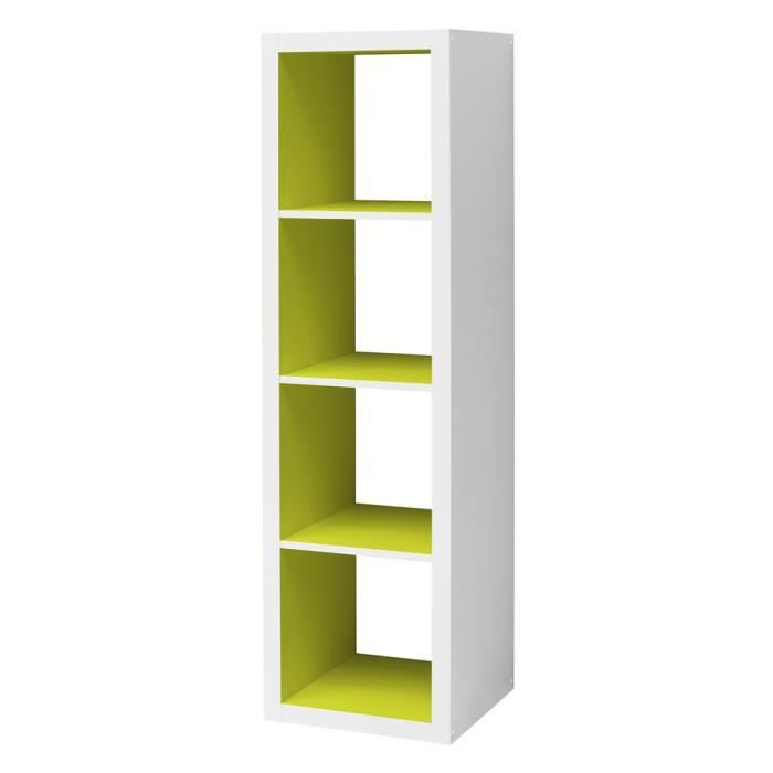 etag re cube szene 4 long blanc vert anis achat vente meuble tag re etag re cube szene 4. Black Bedroom Furniture Sets. Home Design Ideas
