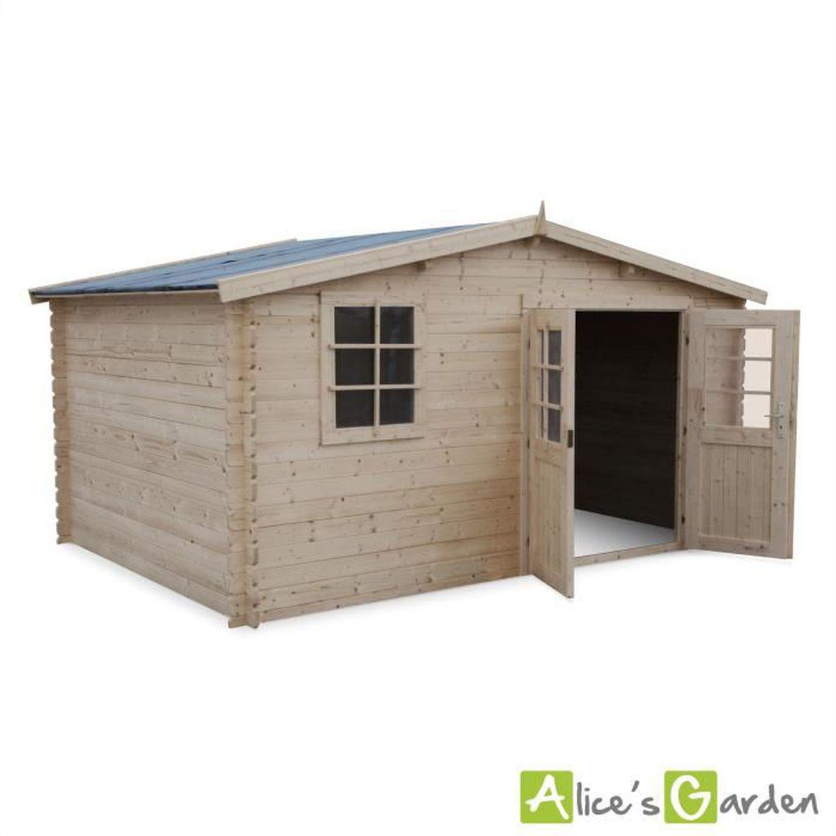 Plan Abri De Jardin En Bois abri de jardin iraty en bois fsc de 12,28m² + plancher