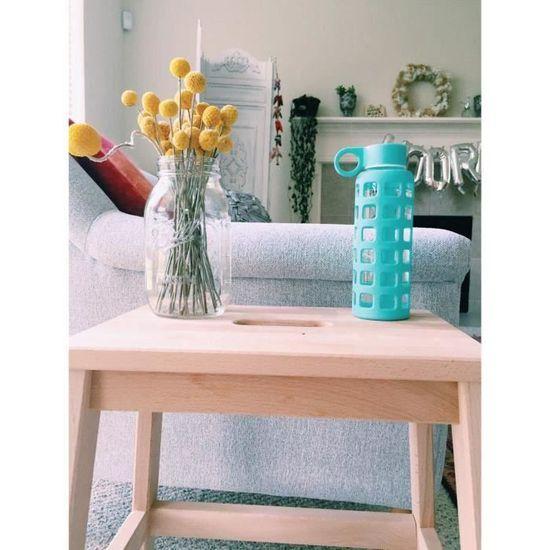 NUK bouteilles de verre silicone protection Bleu clair