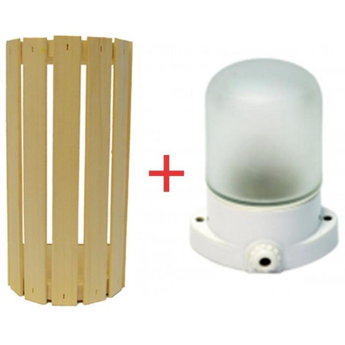 LAMPE OVALE POUR SAUNA ABAT-JOUR GALLO