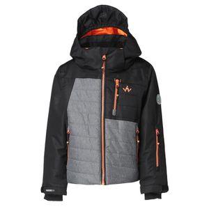 BLOUSON DE SKI WANABEE Veste de ski CYRO 200 JKT - Enfant - Noir